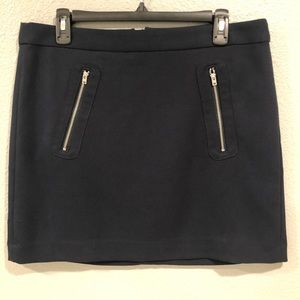 Gap Navy Heavy Knit Skirt with Front Zippers 10
